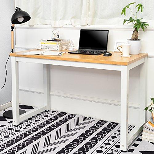 Escritorio mesa de ordenador, mesa de oficina, mesa de trabajo, mesa de oficina, mesa pequeña sencilla para el hogar, oficina, escuela, estable, mesa para estudios, ahorra espacio (natural)