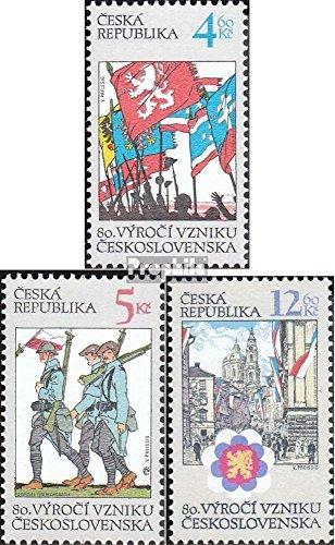 république tchèque mer.-no.: 194-196 (complète.Edition.) 1998 Fondateurs (Timbres pour Les collectionneurs)