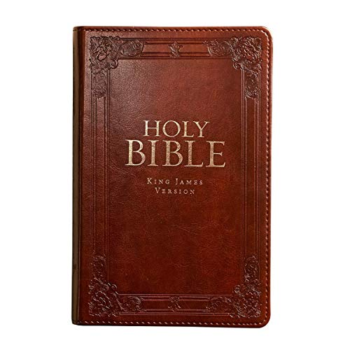 KJV Holy Bible, Standard Bible, Burgundy Faux Leather Bible w/Thumb Index and Ribbon Marker, Red Letter Edition, King James Version