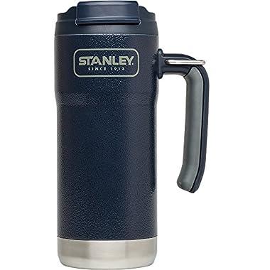 Stanley Adventure Vacuum Insulated Travel Mug, Hammertone Navy, 16 oz
