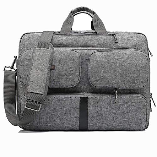 CoolBELL umwandelbar Messenger Bag Aktentasche Rucksack Herren Umhängetasche 17,3 Zoll Business Backpack Laptoptasche Notebook Schultertasche Kuriertasche Mehrzweck Reiserucksack(Grau)