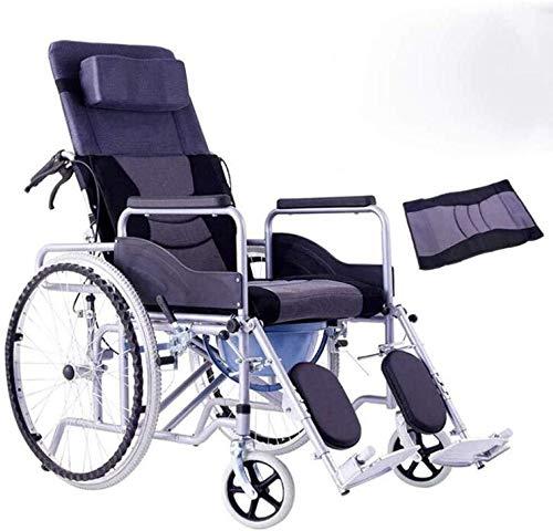 Silla de ruedas cómodo reposabrazos ergonómico 20 kg de control hidráulico piernas colgantes portátil plegable respaldo del asiento, la bandeja