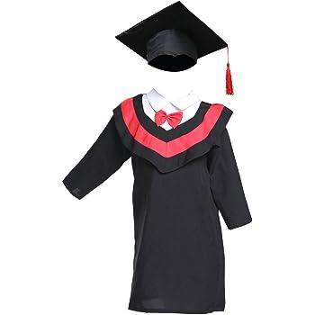 100-140cm Kids Graduation Gown and Cap Tassel Set for Kindergarten Photography