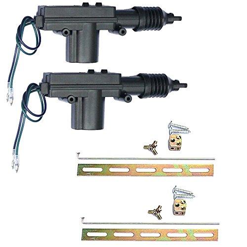 Mintice™ 2 X el coche plástico negro actuador cerradura de la puerta de alimentación de alta resistencia universal de 2 hilos 12V