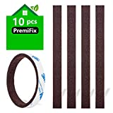 Felt Strips 10Pieces Pack 1/2'x 6' Self Adhesive Brown Furniture Felt Strips Anti Scratch Heavy Duty 5mm Thick Floor Protector for Rocking Chair for Hardwood Floor