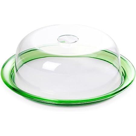 Omada Design Tortiera Globo, Campana Salvafreschezza e Vassoio da 25 cm in Plastica Infrangibile, Made in Italy, Lavabile in Lavastoviglie