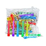 Hookah Tips Disposable Hookah Mouth Tips BPA-Free Plastic Hookah Accessories Individual Wrapped Multi-Color Food Grade Mouth Tips (3.51inch)