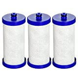 EcoAqua WF1CB-EFF NSF 401, 53&42 Certified Filter, Compatible with WF1CB, WFCB, RG100, NGRG2000, WF284, 9910, 469906, 469910, 3 Pack