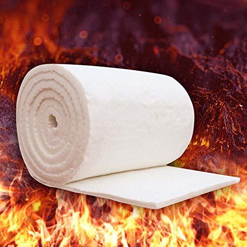Fuitna Manta ignífuga de algodón, Aislamiento de chimeneas Manta de Fibra de cerámica de Aluminio, Manta de Aguja de silicato - Lámina de Aluminio