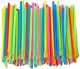 Sno-Cone Spoon Straws (400, Mixed Neon)