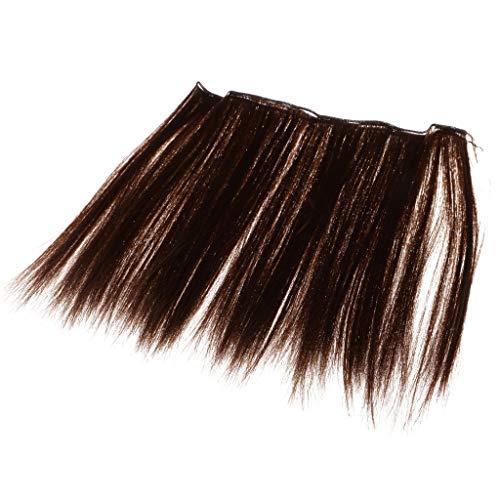 FLAMEER Puppenhaar langes Gerade Perücke Haarteil Für Puppen Dress Up Zubehör, Farben zur Auswahl - Kastanie