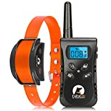 Paipaitek Vibration Collar for Dogs, No Shock Collar with Remote Up to 1600ft Remote Range, w/Sound and Vibrate Feature Dog Training Collar