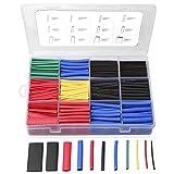 560PCS Tubes thermorétractables, Eventronic assortiment d'enveloppes de câbles de fil électrique Kit de tube thermorétractable d'isolation électrique avec boîte (5 couleurs/12 tailles)