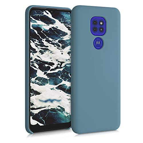 kwmobile Funda Compatible con Motorola Moto G9 Play/Moto E7 Plus - Carcasa de TPU para móvil - Cover Trasero en Gris frío Oscuro