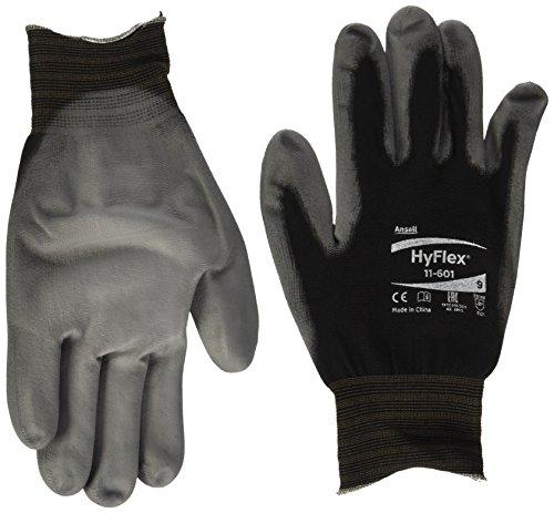 Ansell HyFlex 11-601 Mehrzweckhandschuhe, Mechanikschutz, Grau, Größe 9 (12 Paar pro Beutel)