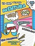 Yo Creo Mi Propia Aventura VOL 3: Cómic en blanco libro para escribir y dibujar tus propios cómics | Cómic vacío | 150 originales páginas de scenario ... adolescentes y niños de todos los niveles