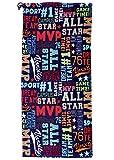 iscream All Star MVP Sports Print 100% Cotton Velour Beach Towel...