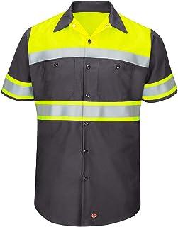 قميص عمل Red Kap Hi-Vis SS Colorblock Ripstop - النوع O، الفئة 1