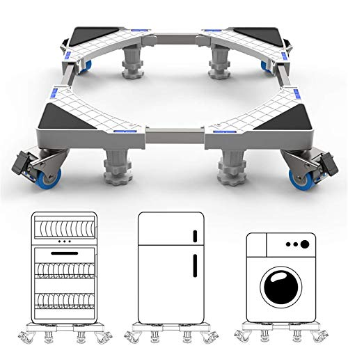 DEWEL Base Lavadora con Ruedas y 4 Patas Fijas Ajustable 44.8 a 69 cm Soporta 200 kg