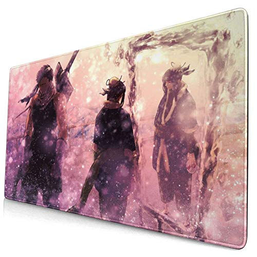 Professional Large Gaming Mouse Pad 75x40cm Computer Mouse Mat,Ruto Shippuuden Momochi Zabuza Haku Mirror Bokeh Anime Sword,Keyboard Non-Slip Rubber Base Water Resistant Stitched Edge,Mouse Pads