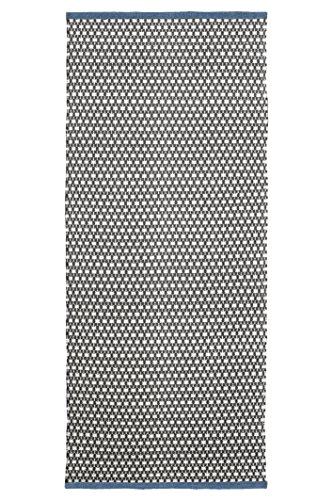 Jute & Co. Nizza handdoek, 100% katoen, bruin/blauw, 140 x 60 x 0,5 cm