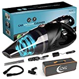 Handheld Car Vacuum Cleaner 12v Portable Cordless Vacuum with Car & Wall Rechargeable Lithium-ion, Black Detailing Vacuum Cleaners for Wet and Dry