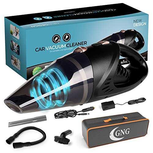 Handheld Car Vacuum Cleaner 12v Portable Cordless Vacuum with Car amp Wall Rechargeable Lithiumion Black Detailing Vacuum Cleaners for Wet and Dry