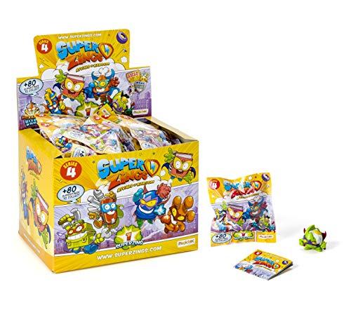 SuperZings - Serie 4 - Display de 25 Figuras Coleccionables (PSZ4D850IN00), Color y Modelo Surtido