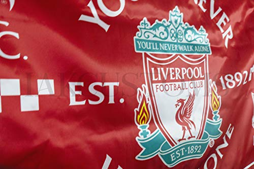 IAKCustoms Liverpool FC YNWA Flag - 3' x 5' - You'll Never Walk Alone Soccer Flag with Grommets