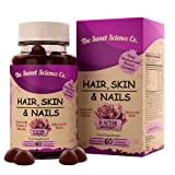 Hair Skin Nails Vitamins for Women - 60 Gummies - Infused with Biotin, Vitamin D3 & B12 - for Hair...