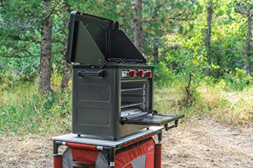 Camp Chef Deluxe Outdoor Camp Oven - Stainless Steel, Insulated Oven Box, Matchless Ignition - Charcoal Gray (COVEND) 5