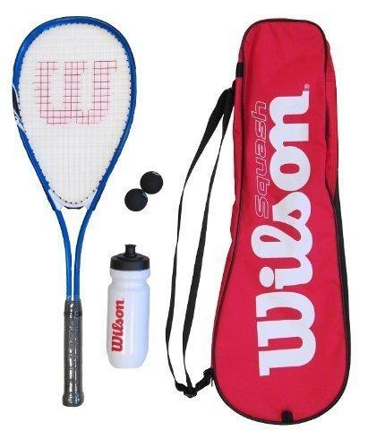 Wilson Squash-Schläger, inklusive Bällen, Wasserflasche und Tasche