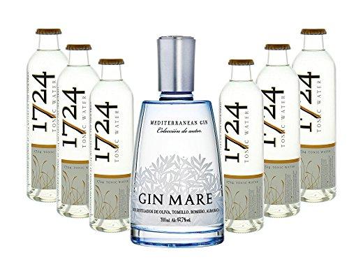 Gin Mare (1 x 0.7 l) mit 1724 Tonic Water (6 x 0.2 l)
