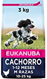 Eukanuba Alimento seco para cachorros de razas medianas con pollo 3 kg