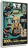 Posters para Pared 2001 A Space Odyssey póster de película Arte Decorativo para el hogar Impresiones en lienzos Pared Cuadros Verticales Paneles de Pintura Moderna 40x60cm x1 Sin Marco