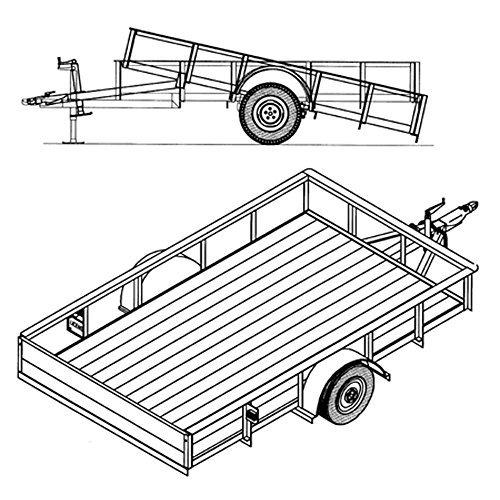 6' 4' x 10' Utility Tilt Trailer Plans Blueprints, Model 1110T