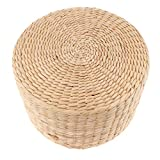 XKMY Cojín de paja japonesa de 30,5 cm, cojín para meditación, cojín de trigo sarraceno para decoración del hogar (color: 30 x 30 x 20 cm)