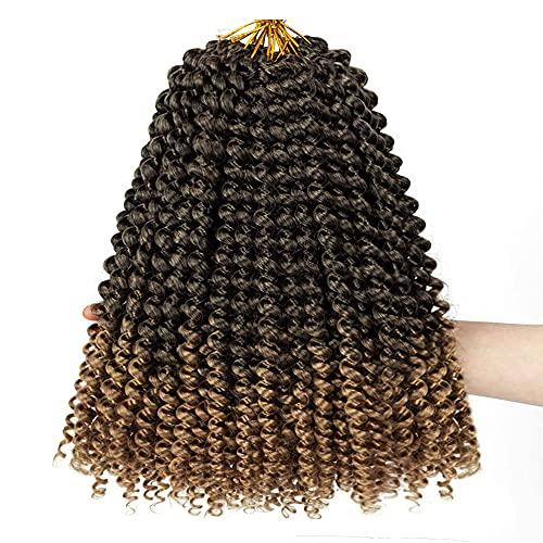 Passion Twist Hair, 7 Packs 12 Pouces Crochet Braids Meches Pour Tresses Africaine Water Wave Passion Twist Cheveux Tresses Meches Pour Tresses YDDM Passion Twist Crochet Hair Extension T1B-27#