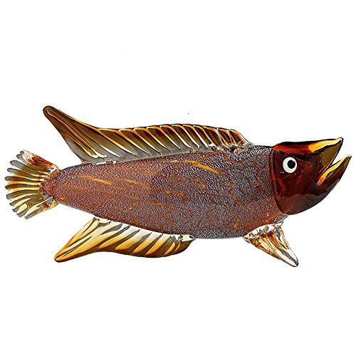 ZHENAO Crafts Fish Statue Decoration, Glass Tropical Fish Sculpture Home Decoration Office Ornament Crystal Animal Collection Ornament Gift Home furnishings