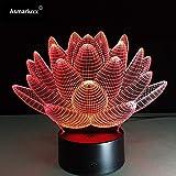 Lotus Nuit lumière Nouvelle Ampoule Tactile Interrupteur Lampe de Table