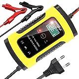 YDBAO Chargeur de Batterie Portable pour Voiture 6A 12V Mainteneur de Batterie Intelligent Voiture avec Écran LCD Multiples Types de Réparation de Protections pour Auto Camion Moto