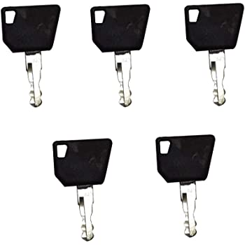 JEENDA 10PCS Ignition Keys 14707 14607 14603 5755124 8035807 for Bobcat New Holland Industrial JCB Bomag Hamm Roller Compaction Dynapac Terex Vibromax Volvo Ford Moxy 85804675 05755125