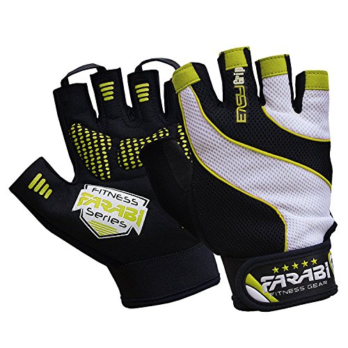 FARABI Easy Grip Weight Lifting Gloves...