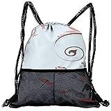 AZXGGV Drawstring Backpack Rucksack Shoulder Bags Gym Bag Sport Bag,Swirled Shabby Chic Blossom Branches Fragrance Essence Theme