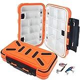 Bakiauli Angeln Lure Box,Wasserbeständigkeit Kunststoff Angelkasten,für Professionelle Angel Zubehör (16 x 9 x 4.5 cm/Orange