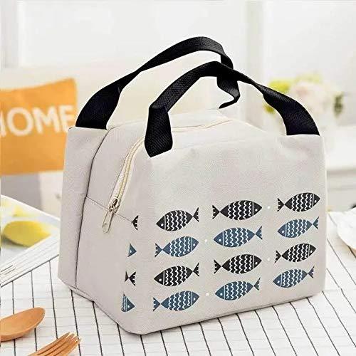 VIDOO 1 Pièce Portable Isolé Sac À Lunch Cooler Thermal Bag Boîte À Lunch Sac De Pique-Nique Sac Isolant - Gris