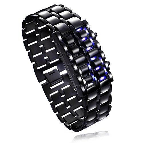 腕時計 デジタル カッコイイ ブルーライトLED 電池セット済 男女兼用 (Black) 2019年版【メーカー30日保証付き】