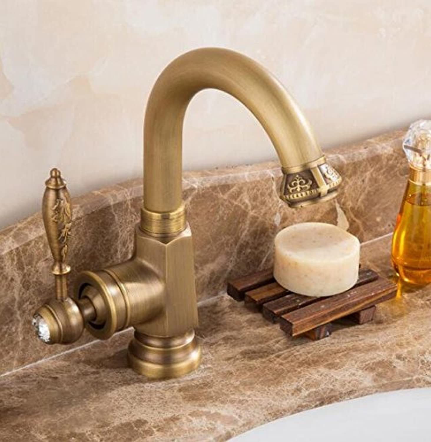 Mkkwp Water Tap High Quality Antique Kitchen Faucet Cold And Hot Bathroom Sink Faucet Basin Faucet