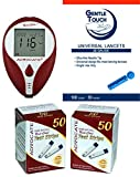 Advocate Redi-Code Plus Speaking Glucose Meter Kit Combo (Meter Kit, Test Strips 100ct and and Reliamed Safety Seal Lancets 100ct)