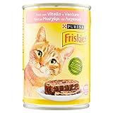 Friskies – Patã© con Ternera y Verduras, alimento Completo para Gatos Adultos – 400 g
